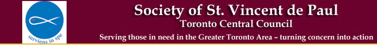 Society of St. Vincent de Paul - Toronto Central Council